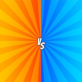 Comic versus con rayos de zoom.