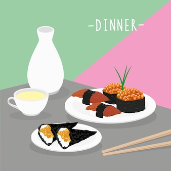 Comida comida cena lácteos comer beber menú restaurante vector