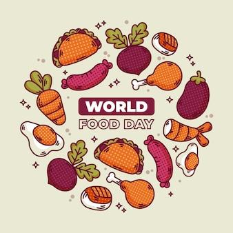 Comida deliciosa para el día mundial de la alimentación.