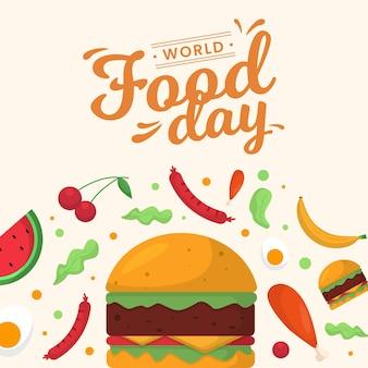Comida deliciosa para el evento del día mundial de la alimentación.