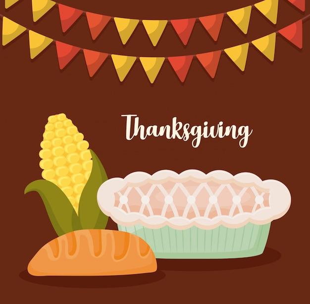 Comida para el día de acción de gracias.