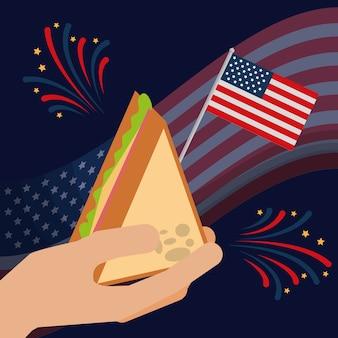 Comida día de la independencia americana