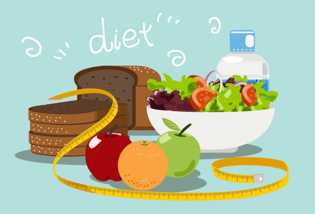 Comida dietética para bajar de peso