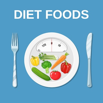 Comida dietetica. dieta y nutrición.