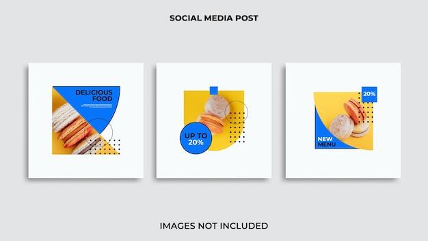 Comida de diseño de publicación de instagram