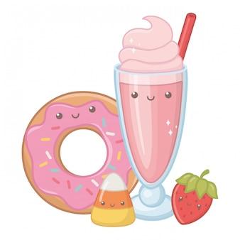 Comida dulce y deliciosa