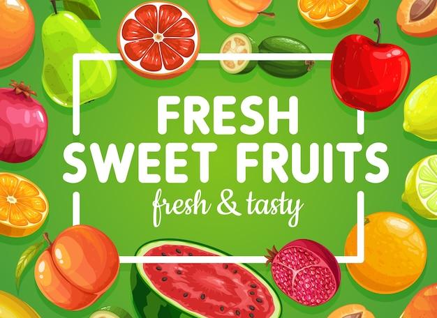 Comida de frutas dulces exóticas tropicales