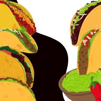 Comida mexicana del día del taco
