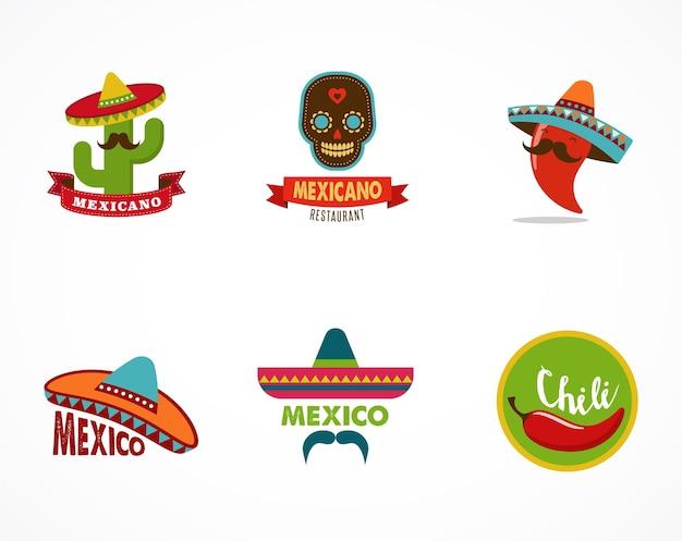 Comida mexicana, elementos de menú para restaurante.
