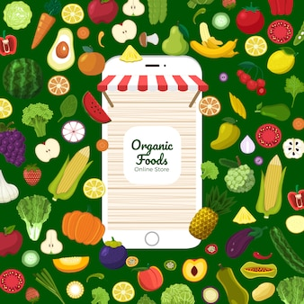 Comida orgánica saludable