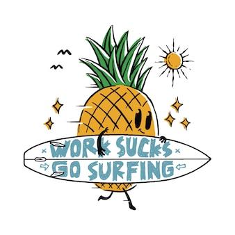 Comida piña fruta amor surf verano