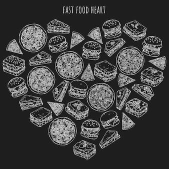 Comida rapida corazon