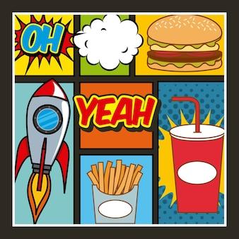 Comida rápida pop art