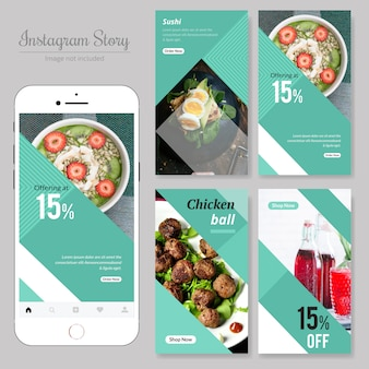 Comida restaurante social media banner