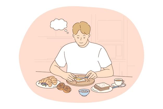 Comida sana, alimentación limpia, concepto de nutrición.