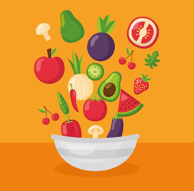 Comida sana fresca