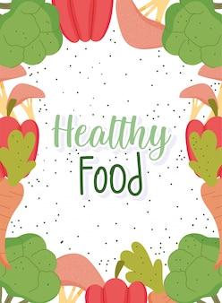 Comida sana, menú productos naturales balance de salud nutrición dieta