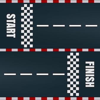 Comience a terminar marcando la pista de carreras