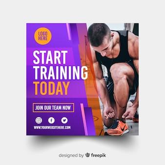 Comienza a entrenar banner deportivo