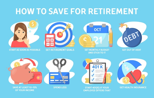 Cómo ahorrar dinero para la jubilación, consejos financieros