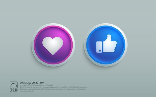 Como botón de elemento de diseño 3d