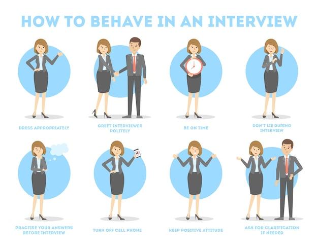 Cómo comportarse en una entrevista de trabajo.