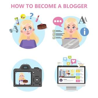 Cómo convertirse en un buen blogger infografía