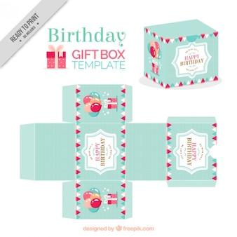 Como hacer una bonita caja de cumpleaños