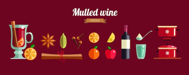 Cómo hacer el concepto de infografía de vino caliente