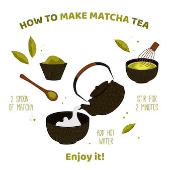 Cómo hacer té matcha