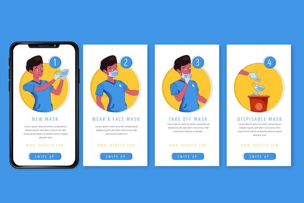 Cómo usar historias de instagram de equipos sanitarios