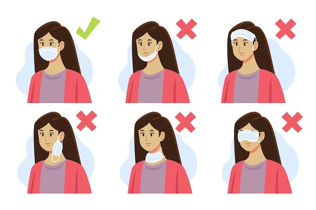 Cómo usar una ilustración de mascarilla