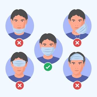 Cómo usar una mascarilla (correcta e incorrecta)