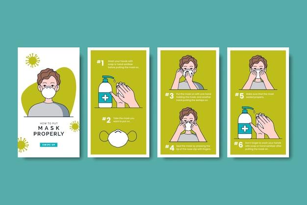 Cómo usar productos sanitarios paquete de historias de instagram