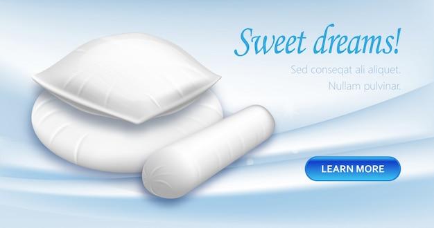 Cómodas almohadas cuadradas, redondas, en forma de cilindro