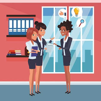 Compañeros de trabajo de negocios en la oficina