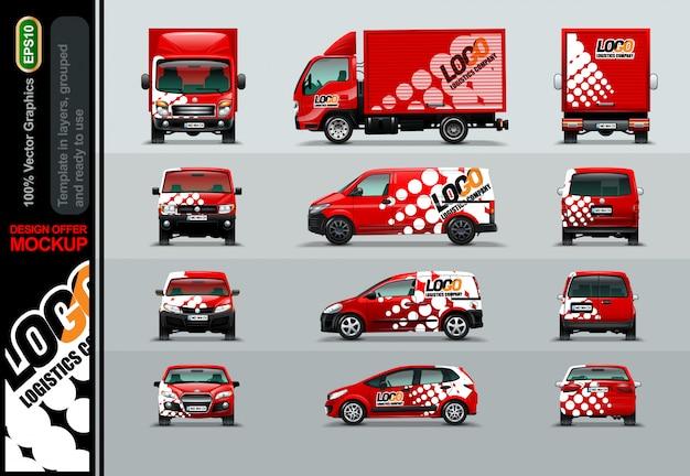 Compañia logística. ofertas de diseño para su negocio.