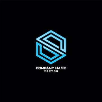 Compañía logo design line art s symbol