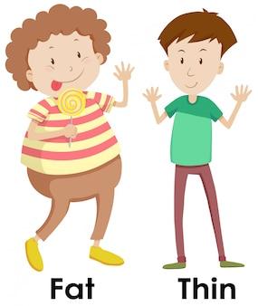 Una comparación del cuerpo del niño