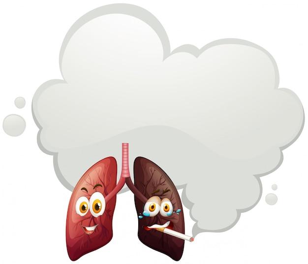 Una comparación de pulmón humano