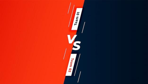 Comparación versus diseño de plantilla de fondo de pantalla