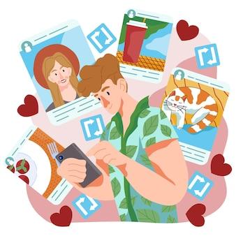 Compartir contenido en diseño de redes sociales