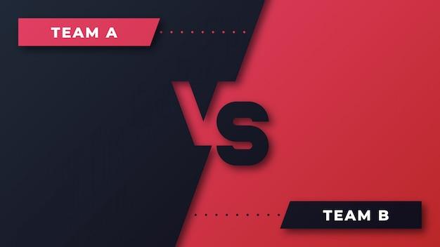 Competencia deportiva rojo y negro versus fondo