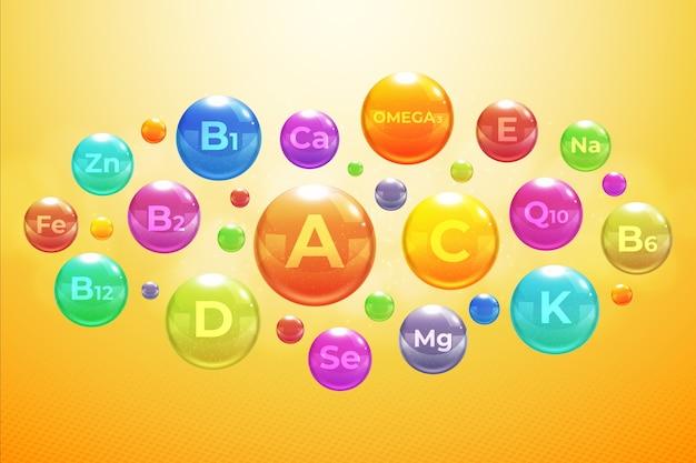 Complejo esencial de vitaminas y minerales.