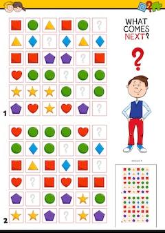 Completa el patrón de actividad educativa para niños.
