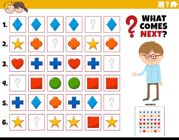 Completar el patrón de tarea educativa para niños