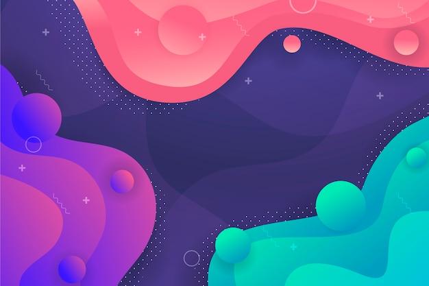 Composición abstracta estilo liquido