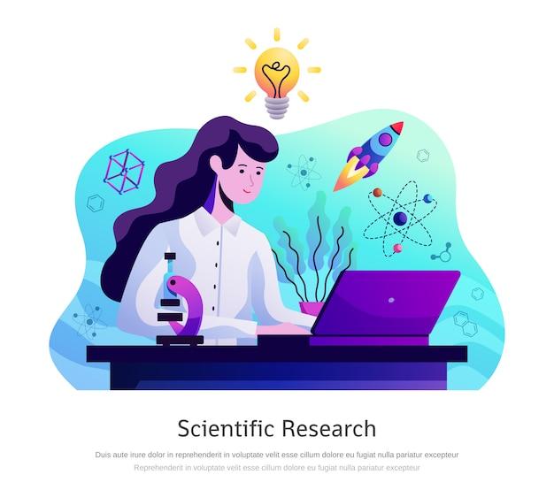 Composición abstracta de investigación científica