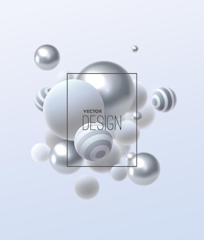 Composición abstracta con racimo de burbujas multicolores