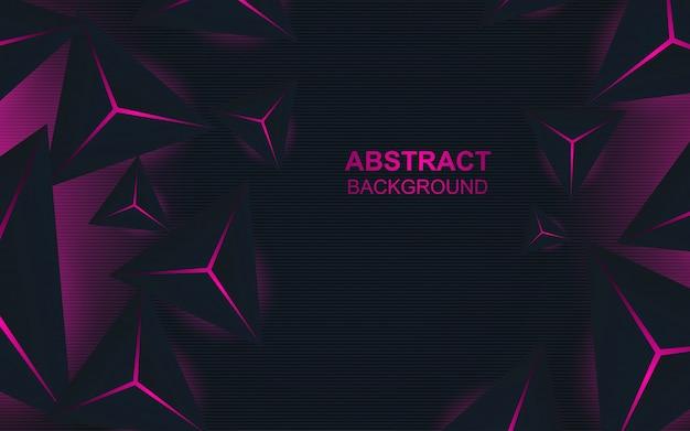 Composición abstracta triángulo sobre fondo oscuro